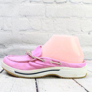 LL BEAN Boat Shoes Mule Low Back Slip On Sz 7.5 M